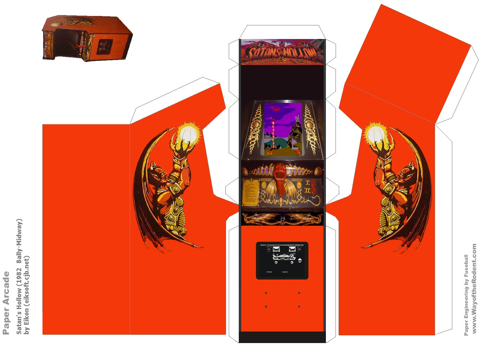 papercraft arcade machine